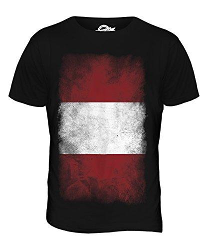 CandyMix Peru Verblichen Flagge Herren T Shirt Schwarz