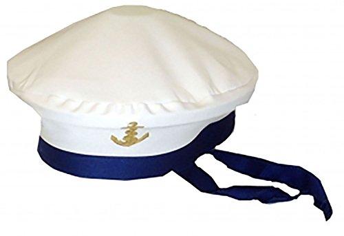 Islander Fashions Herren Marine Captain Sailor Hut Damen Marine Force Kost�mfest Zubeh�r Hut One Size
