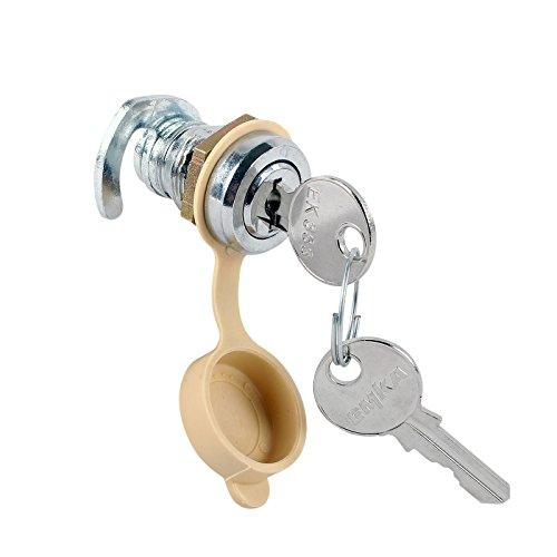 Preisvergleich Produktbild Gaskasten Schloß Chrom 2 Schlüssel Hakenriegel für 12 mm Stärke mit Schutzkappe