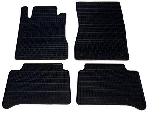 Auto Fußmatten Gummi Set 4-teilig passgenau, schwarz