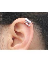 Ndier 1x Unisex Frog Design aleación Ear Cuff Clip Wrap Pendientes bisutería (Plata)