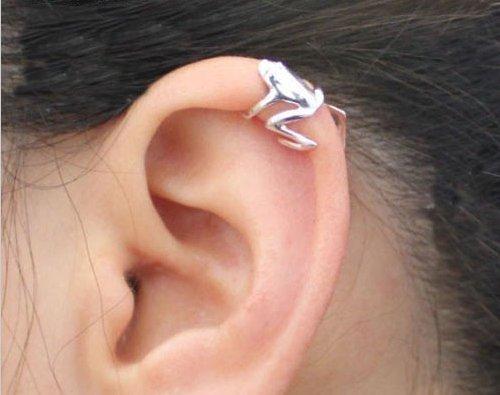Ndier 1x Unisex Frog Design aleación Ear Cuff Clip