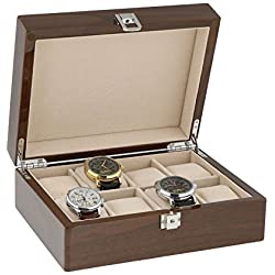 Lacquered Walnut Watch Collectors Box for 8 Wrist Watches by Aevitas