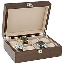 Lackiert Nussbaum Armbanduhr Sammler Box für 8Handgelenk Uhren von aevitas