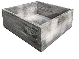 strandgut07 teakholz kiste box recycelt finish grau braun. Black Bedroom Furniture Sets. Home Design Ideas