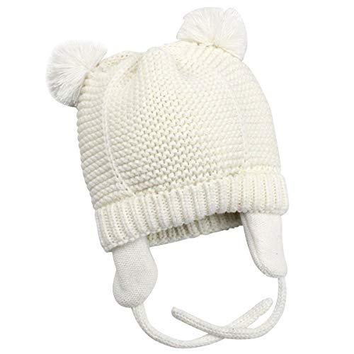 Amorar berretto neonato berretto con paraorecchie berretto con visiera per neonato beanie berretto invernale per bambini cappello dolce con fodera in pile