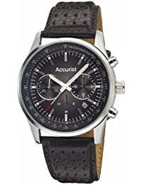 Accurist Men's Quartz Watch with Brown Dial Chronograph Display and Brown Leather Strap Ms893Br