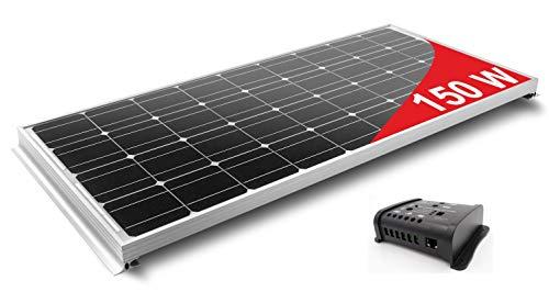 Pannello solare 150w monocristallino per camper. kit completo di