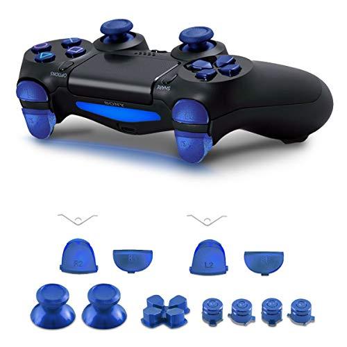 kwmobile Boutons de rechange Playstation manette 4 (1ère gén.) - Set touches en aluminium pour Playstation manette 4 (1ère gén.) - Boutons joystick flèches manette