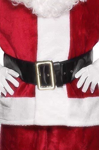Fancy Me Herren Weihnachtsmann Gürtel mit Gold Schnalle Weihnachtsmann Festlich Kostüm Kleid Outfit Zubehör - Herren-kleid-gürtel-schnalle