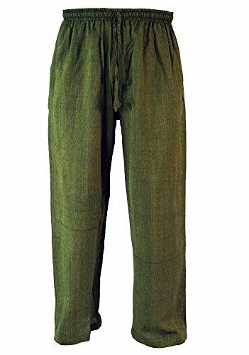 Guru-Shop Yogahose, Goa Hose, Herren, Grün, Baumwolle, Size:M (48), Männerhosen Alternative Bekleidung