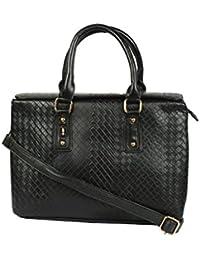 Kion Style Cross Design Women's Black Handbag