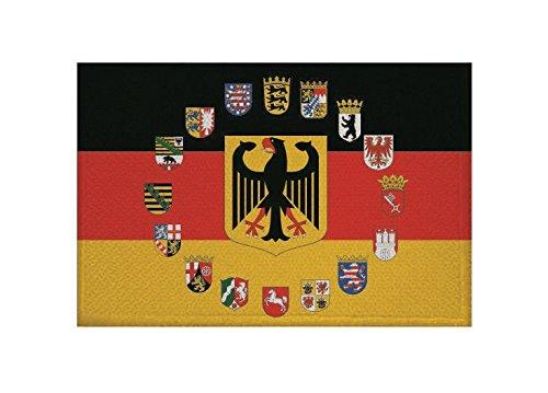 U24 Aufnäher Deutschland Adler 16 BL Wappen Fahne Flagge Aufbügler Patch 9 x 6 cm -
