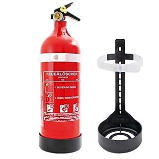 Feuerlöscher 2L ABF Fettbrand Schaum-Kombi-Löscher EN3 inkl. Prüfnachweis mit Jahresmarke + ISO Symbolschild