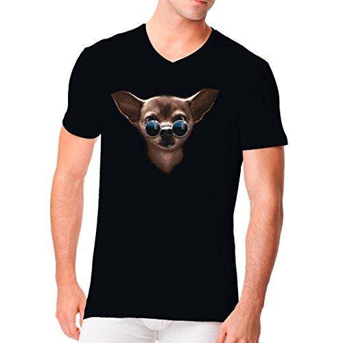 Im-Shirt - Hunde Shirt: Cool Chihuahua cooles Fun Men V-Neck - verschiedene Farben Schwarz