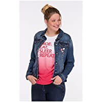 Eskadron Equestrian.Fanatics–Women Jeans Jacket Jeanie, color 3814 denim navy, tamaño extra-large