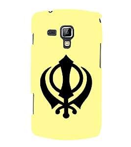 PrintVisa Symbol Of Punjab 3D Hard Polycarbonate Designer Back Case Cover for Samsung Galaxy S Duos S7562