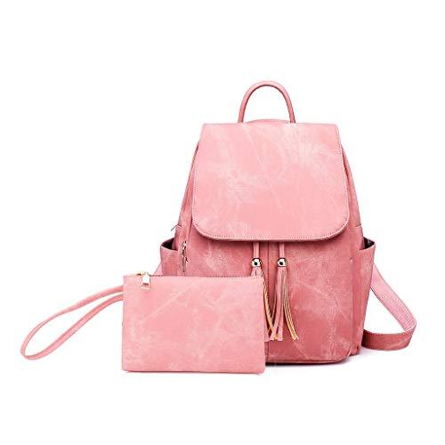 Haludock 2 STÜCK Frauen Damenmode Magnetschnalle Quaste Messenger Handtasche Totes Schulter Rucksäcke Taschen Umhängetasche Reisetaschen Lacoste Protect Strap