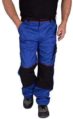 Iwea Stabile Arbeitshose Bundhose Berufshose Handwerker Cargohose Arbeitskleidung IW063 (52, Blau)