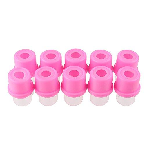 Beauty7 Nail Art 10 Embouts Capuchons Soaker Pour Dissolvant Remover Nettoyage UV Gel Enlever Acrylique Faux Ongle Manucure