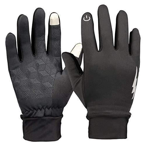Hicool Gants à Écran Tactile de Téléphones Homme/Femme Touch Screen Gloves Anti-Glissant Antidérapant Étanche au Vent pour Vélo Fitness Conduite Photographie Cyclisme