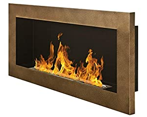 90s Gel and Ethanol Fireplace Gold Antique Gel Fireplace Bio-Ethanol Fireplace