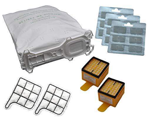 64 tlg. Set geeignet für Vorwerk Kobold Kobold 135 / 136 / 135SC / VK135 / VK136 / 135SC / FP135 / FP136 / FP135 SC 30 Beutel 5 lagig, aus hochwertigem Premium - Microvlies, für Allergiker geeignet, 30 Duftblock 2 Hygienefeinfilter 2 Motorschutzfilter