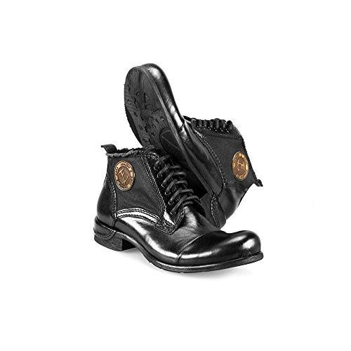 a982eaf7fd8253 Modello Vieste - 42 - Handgemachtes Italienisch Leder Herren Schwarz Stiefel  Stiefeletten -.