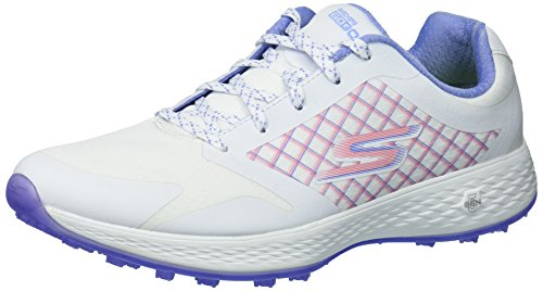 Skechers Damen Rival Go Golf Eagle Major, Weiß/Lavendel, 37.5 EU -