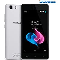 Smartphone in Offerta, DOOGEE X5 Dual SIM Telefonia Mobile Android 6.0 - 3G Telefoni Cellulari con 5.0 Pollici HD IPS Display - 8GB Memoria Interna e 5.0MP Fotocamera Digitale - Bluetooth 4.0 Gesto Intelligente GPS Xender Cellulare - Bianca