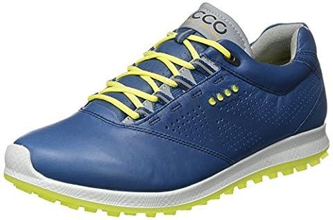 Ecco Men's Biom Hybrid 2, Chaussures de Golf Homme, Bleu (Denim Blue/Sulphur), 39 EU