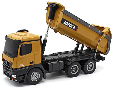 Fm-electrics FM573 | Ferngesteuerter LKW mit Akku mit voller Funktion, Laster mit Fernsteuerung, ferngesteuert mit Akku und Ladegerät Huina 1580