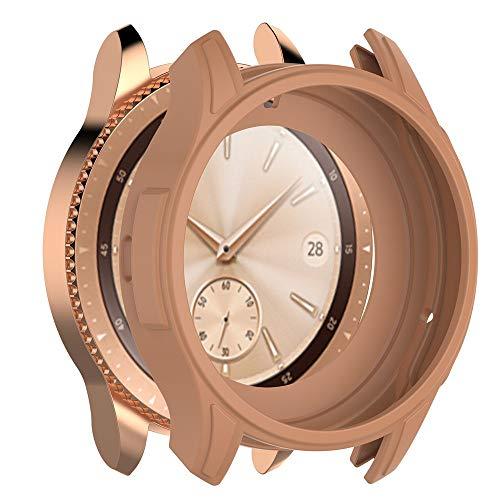 Preisvergleich Produktbild Colorful Für Samsung Galaxy Watch 42cm Hülle,  Premium Galaxy Watch 42cm Tasche Schutzhülle Weiche TPU Silikon Gel Bumper Case Cover für Samsung Galaxy Watch 42cm, Gold