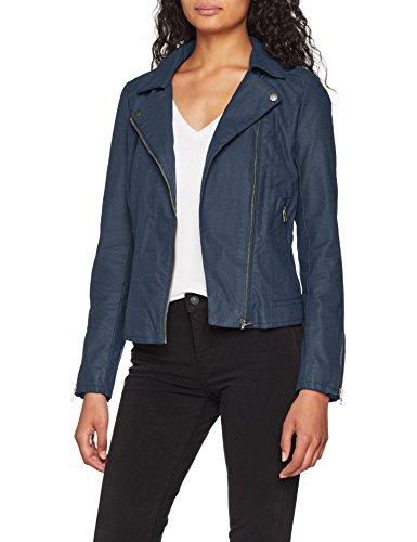 ONLY Damen Jacke onlSAGA Faux Leather Biker CC OTW, Blau Insignia Blue, 42 8a940e36c3