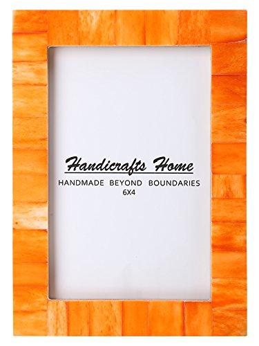 Bilderrahmen Fotorahmen Schick Schäbig Holz Vintage Handgefertigt Natürlich Knochen Klassische Größe 4x6 12.7x17.8cm - Orange, 10cm x 15cm