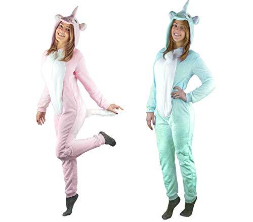 Mediawave store pigiama intero cosplay b1843 a tuta felpato unisex mod. rainbow da xs a xxl (rosa, s)