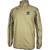 adidas Notre Dame Fighting Irish NCAA Sideline 1/4 Zip Climaproof Jacket - Gold
