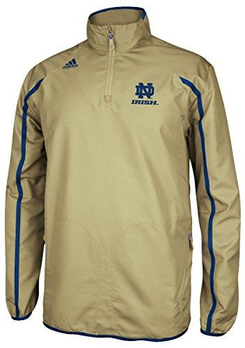 Adidas 1/4 Zip (Notre Dame Fighting Irish Adidas NCAA Sideline 1/4 Zip Climaproof Jacket - Gold)