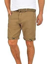 Indicode Frances Pantalón Cargo Bermudas Pantalones Cortos para Hombres Elástico Regular-Fit SPSk5