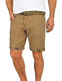 Indicode Frances Pantalón Cargo Bermudas Pantalones Cortos para Hombres Elástico Regular-Fit