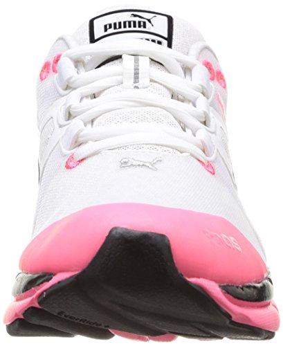 Puma Wns Faas 1000 V1 5, Chaussures de running femme Blanc - Weiß (01 white-black-fluo pink)