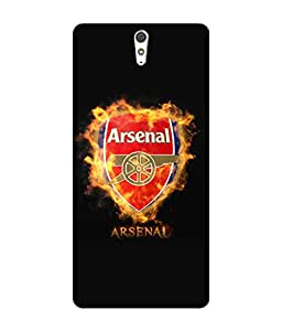 chnno Arsenal 3D Printed Back cover for Sony Xperia C5 Ultra -Multicolor