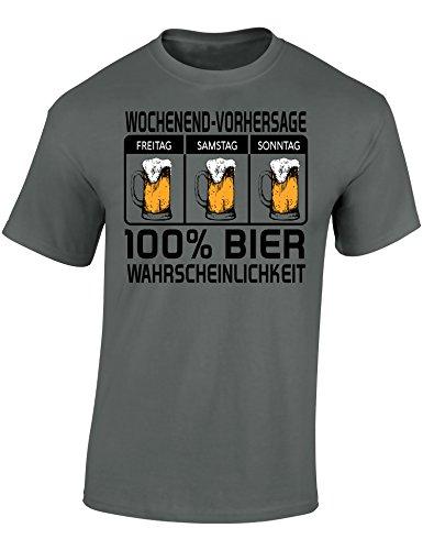 T-Shirt : 100% Bier Wahrscheinlichkeit - Geschenk für Bierliebhaber - Geschenke für Männer - Bier-Trinker - Craft-Beer - Oktoberfest - Brauer-Ei - Lustig - Fun - JGA - Saufen - ()