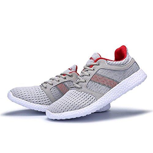 Hommes Respirant Chaussures de sport Formateurs Randonnée Confortable Lumière Chaussures de course Red