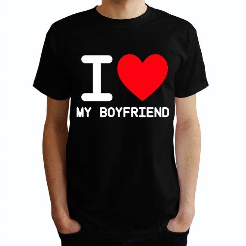 I love My Boyfriend Herren T-Shirt Schwarz