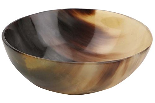 Handicrafts Home Bol en corne de boeuf moussant jusqu'à rasage savon tasse bols tasse plat de paume réel à la main taille 5 ''