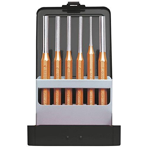 GEDORE R90200006 Splinttreibersatz D.3-8mm +Kassette 6tlg red Splinttreiber-Satz 6-teilig, Ø 3-8 mm