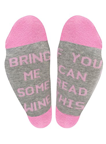 Nlife Women's Letter Print IF YOU CAN READ THIS Street Fashion Tube Socks (One Size, Pink+Gray) (Socks Tube Pink)