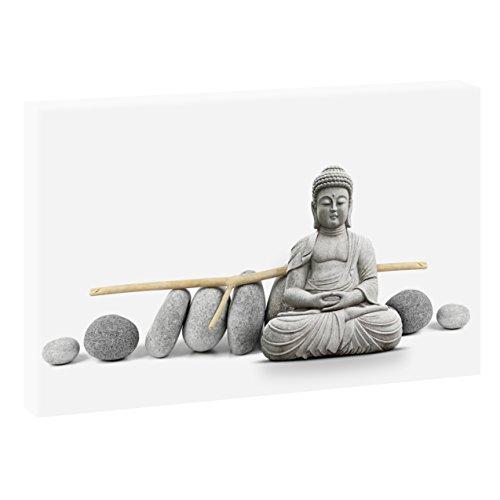 Yoga | V1710103 | Bilder auf Leinwand | Wandbild im XXL Format | Kunstdruck in 120 cm x 80 cm | Bild Buddha Meditation Zen Buddhismus (Farbig)