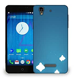 Snoogg Multiple Clouds Printed Protective Phone Back Case Cover For Micromax Yu Yureka